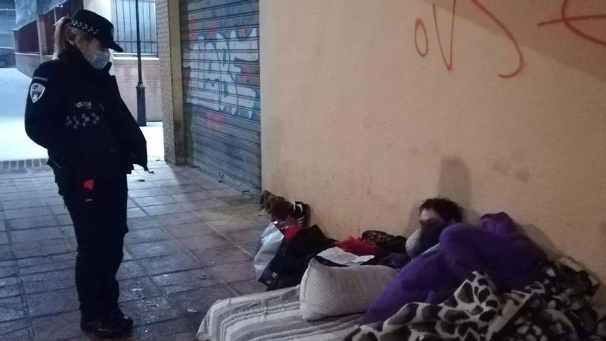 """La mayoría de personas sin techo de la región, """"guarecidas"""" durante la ola de frío"""