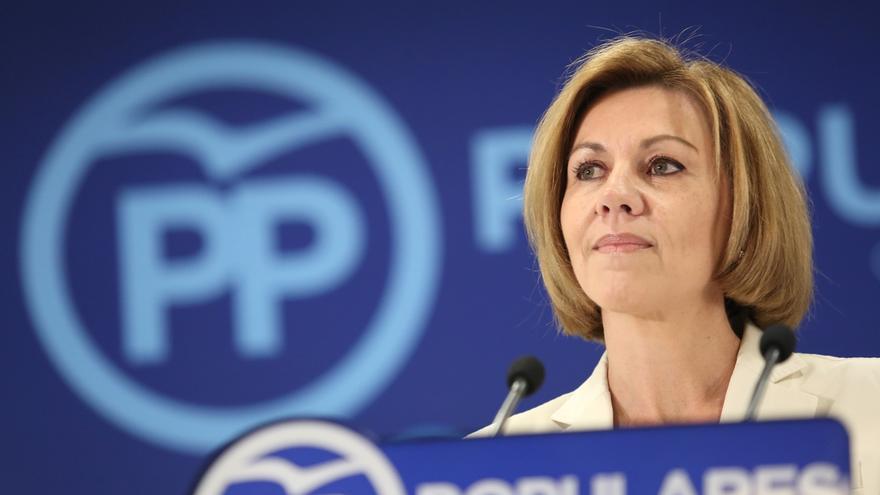 """Cospedal optará a liderar el PP: """"He dado la cara siempre, me la han partido varias veces pero me he levantado"""""""