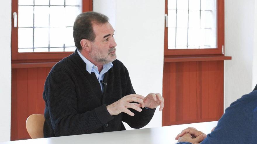 Anxo Quintana (BNG), en un momento de la entrevista con eldiario.es