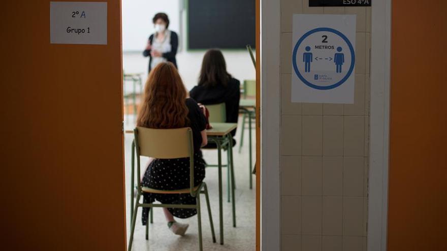 Imagen del inicio de las clases de refuerzo en el País Vasco esta semana. EFE/Brais Lorenzo