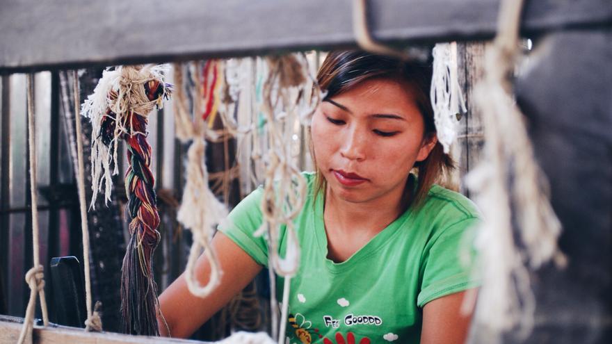 Una trabajadora de Hemper en Nepal