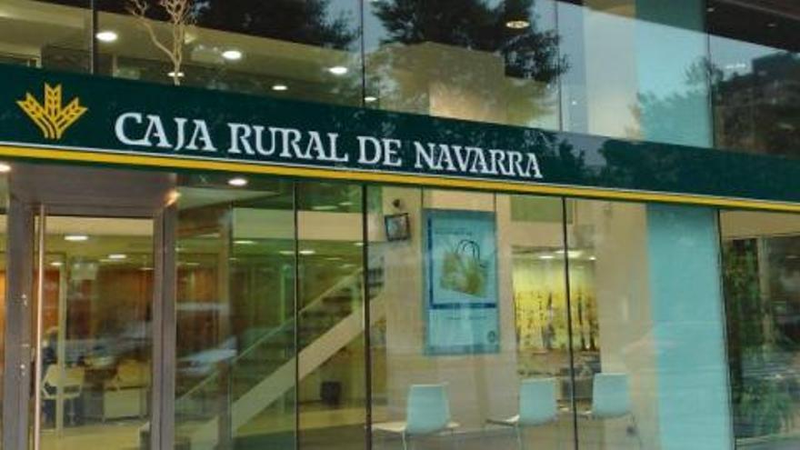 Una sucursal de Caja Rural Navarra