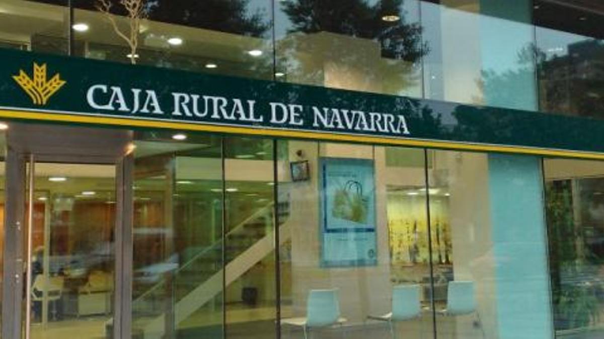 Una sucursal de Caja Rural Navarra.