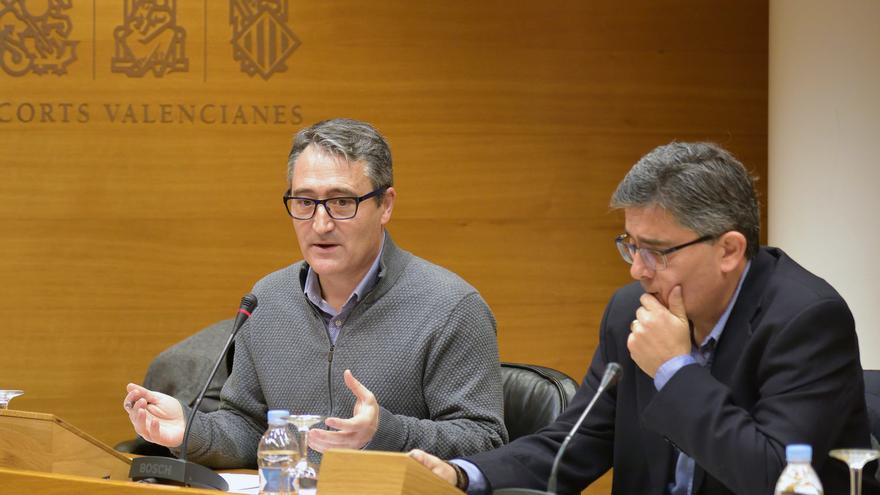 El Síndic Major de Comptes, Vicent Cucarella, en las Corts Valencianes