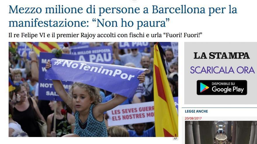 Publicación en La Stampa