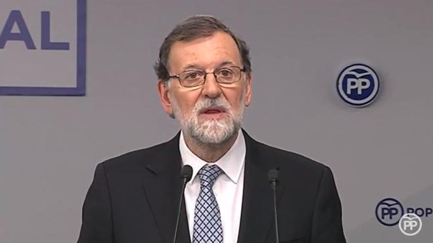 Rajoy comparece durante el comité ejecutivo del PP.