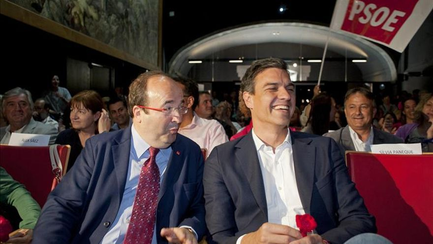 Pedro Sánchez y Miquel Iceta se reúnen en Barcelona para preparar las elecciones