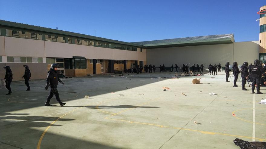 Momento del interior de la cárcel CIE de ARchidona (Málaga) este miércoles