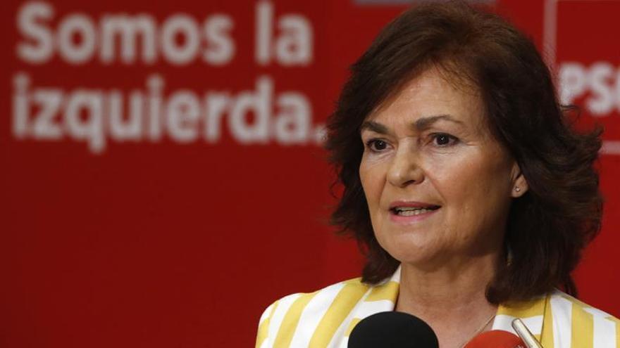 Carmen Calvo será vicepresidenta del Gobierno y ministra de Igualdad