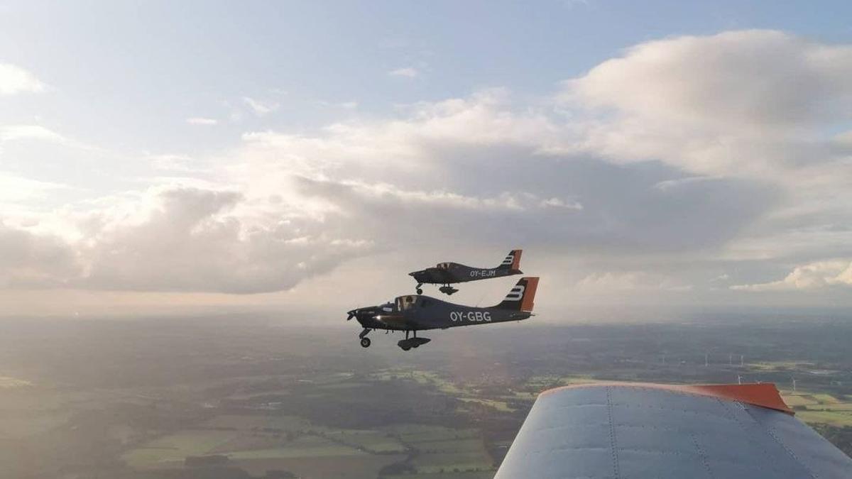 Los aviones de la compañía danesa, rumbo a Córdoba