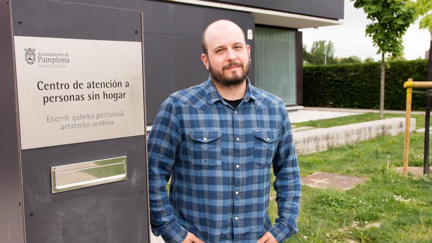 Rubén Unanua, coordinador del Servicio para personas sin hogar de la Fundación Xilema.