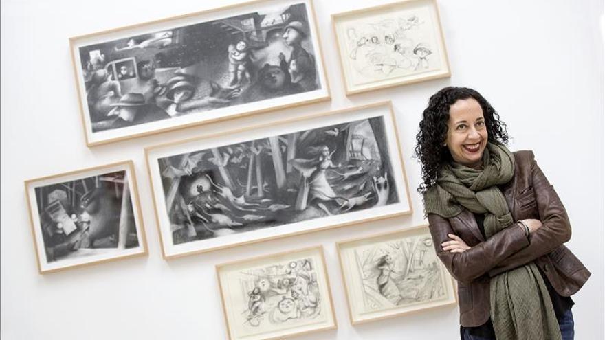 La ilustradora Ana Juan desvela su proceso creativo en realidad aumentada