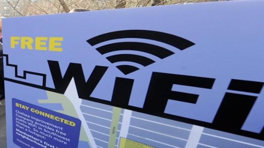 Señal convencional de existencia de wifi