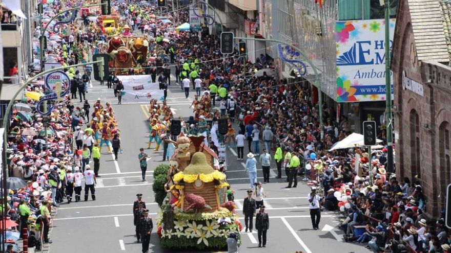 La ciudad ecuatoriana de Ambato, una alegoría de los frutos de la tierra