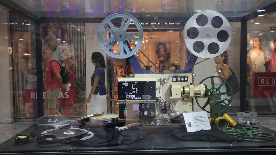 Exposición 'El cine en Gran Canaria'. (ALEJANDRO RAMOS)