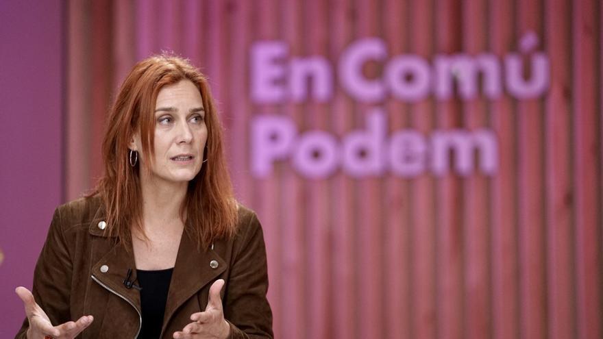 La candidata de los comuns a la Presidencia de la Generalitat, Jéssica Albiach