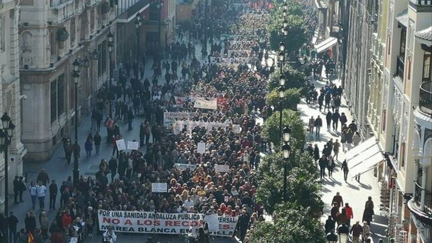 Manifestación marea blanca Por tu Sanidad Sevilla 26 enero 2020 para ART María Iglesias