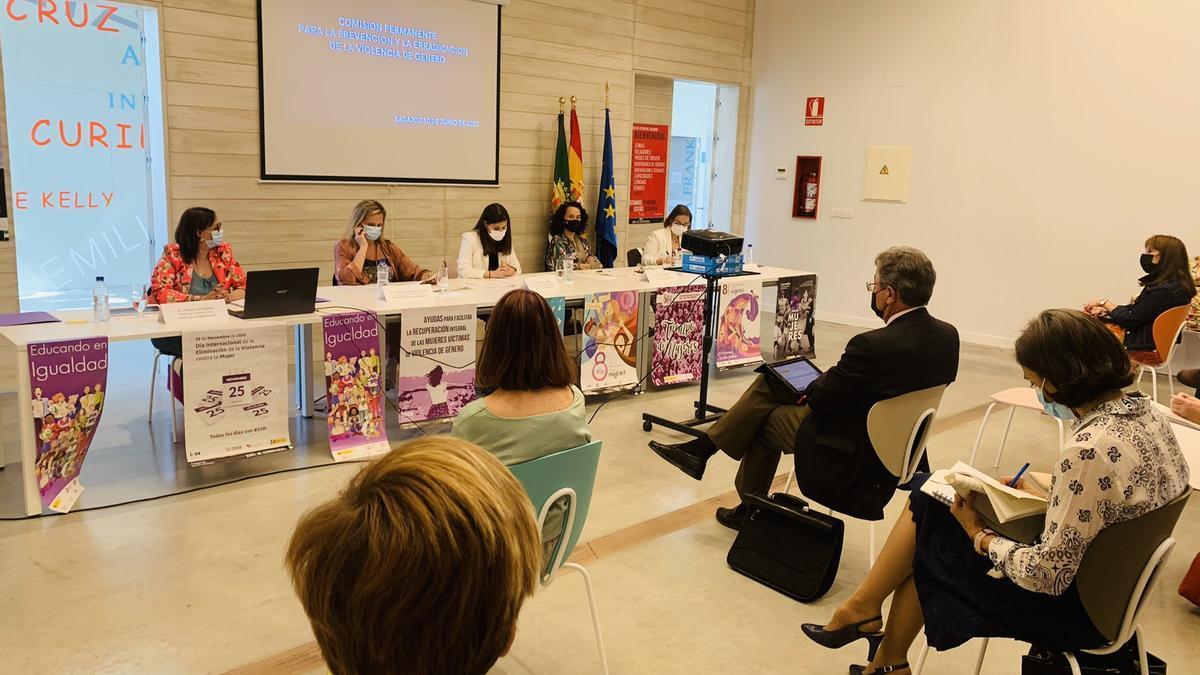 Reunión de la Comisión Permanente para la Prevención y Erradicación de la Violencia de Género celebrada en la Casa de la Mujer de Badajoz