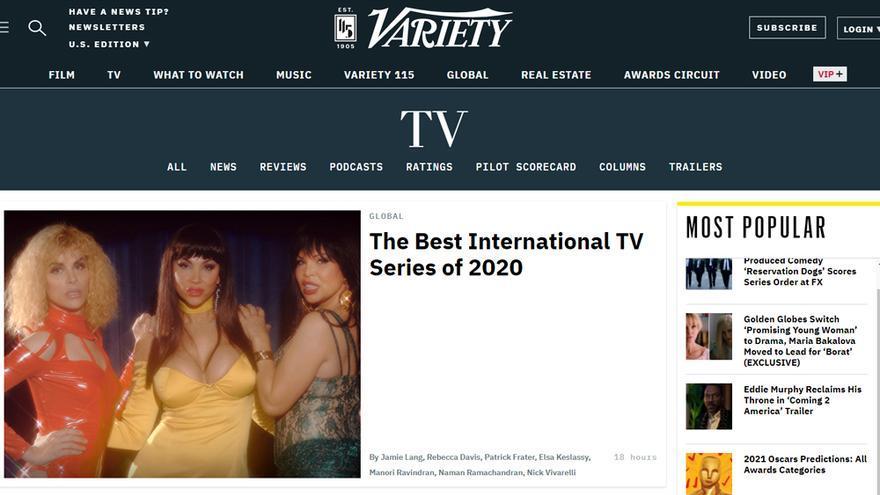 'Veneno', en la portada digital de Variety