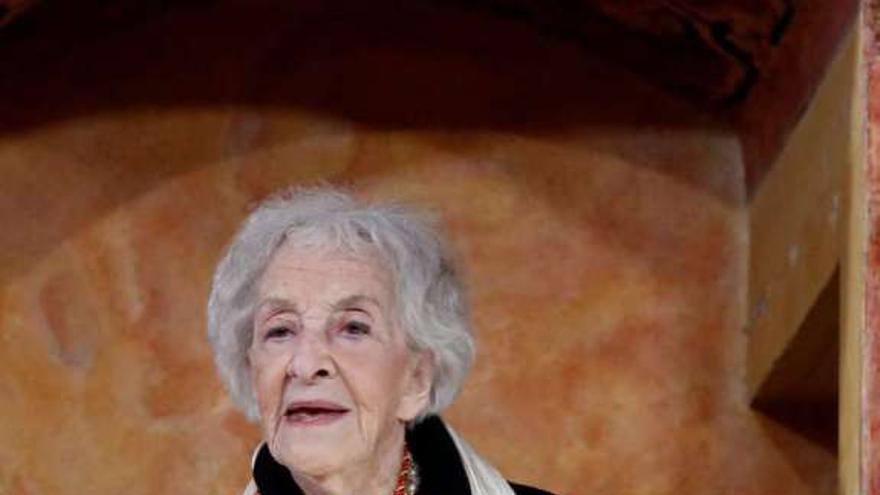 Ida Vitale, en el discurso de recogida del Premio Cervantes/ EFE