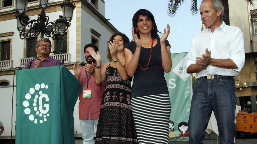 Teresa Rodríguez (Podemos) en apoyo de Ganemos Córdoba en la campaña electoral de las municipales.