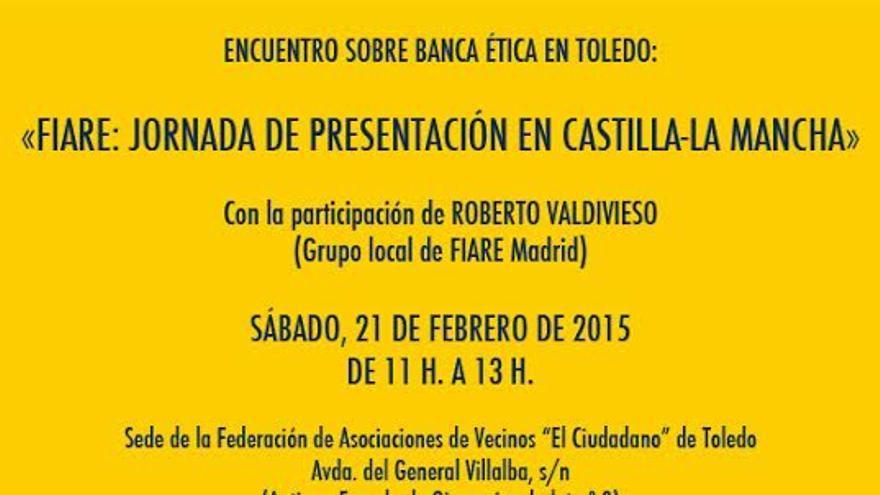 Cartel evento FIARE Banca Ética Toledo