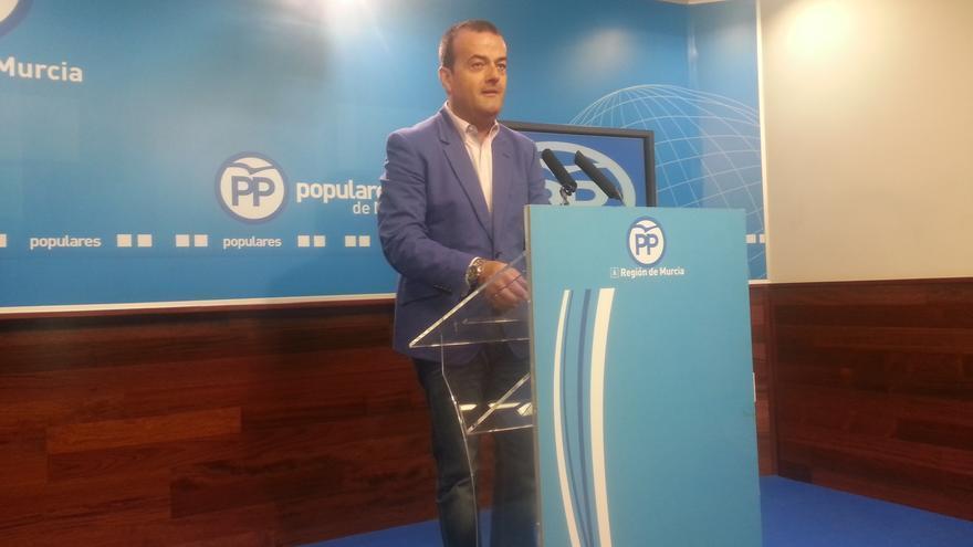 El portavoz regional del PP murciano, Javier Iniesta