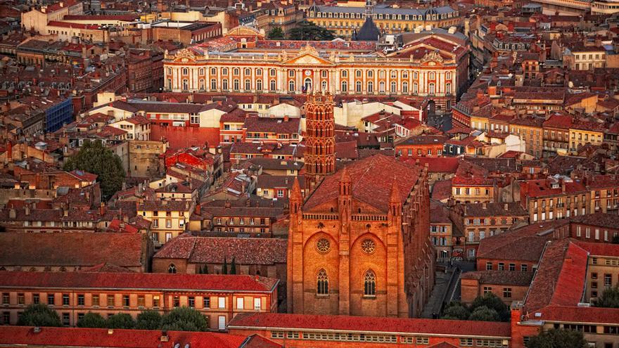 Vista aérea de la ciudad de Toulouse. © D. Viet.