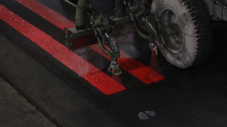 Líneas rojas para señalar los límites de Madrid Central   AYUNTAMIENTO DE MADRID