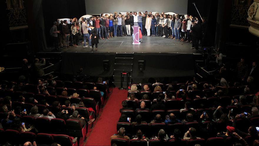 Panorámica del Nuevo Apolo de Madrid durante el acto final de la Asamblea Ciudadana de Podemos / Marta Jara