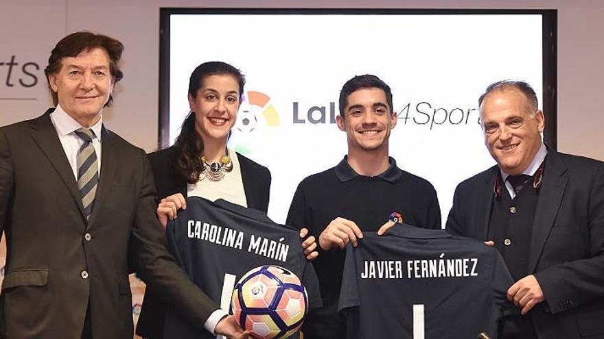 Acuerdo de patrocino de la Liga de Fútbol Profesional con la onubense Carolina Marín