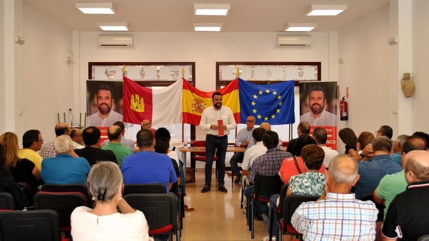 José Luis Blanco, este viernes, en Mota del Cuervo (Cuenca)