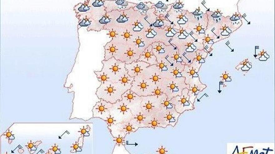 Hoy bajan más las temperaturas en la mitad oriental peninsular y Baleares