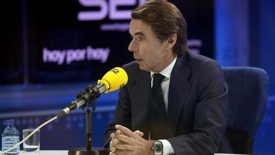 Aznar: En Cataluña ha faltado política y se ha dejado margen a secesionistas