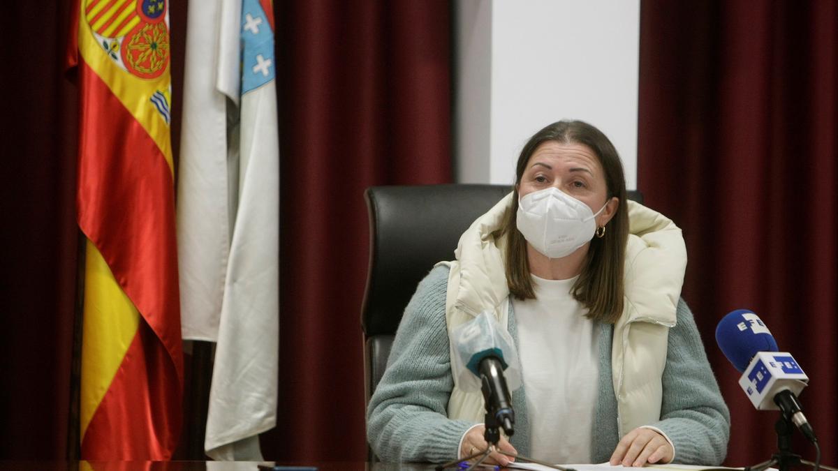 La alcaldesa del concello coruñés de Boimorto, María Jesús Novo. EFE/Cabalar