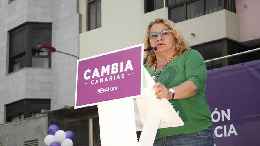Meri Pita, secretaria general de Podemos en Canarias.   (ALEJANDRO RAMOS)