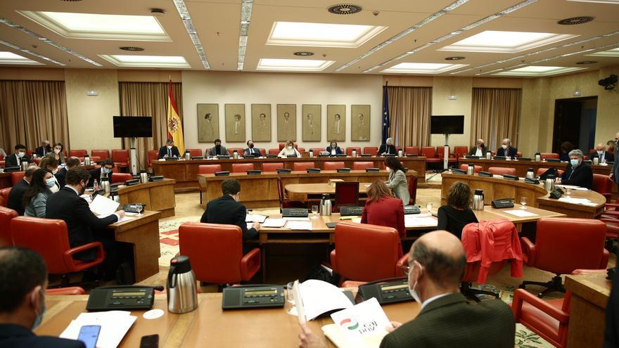 Vista general durante una sesión de la Diputación Permanente en el Congreso de los Diputados