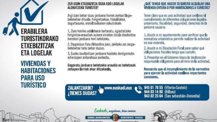 Campaña impulsada por Gobierno vasco.