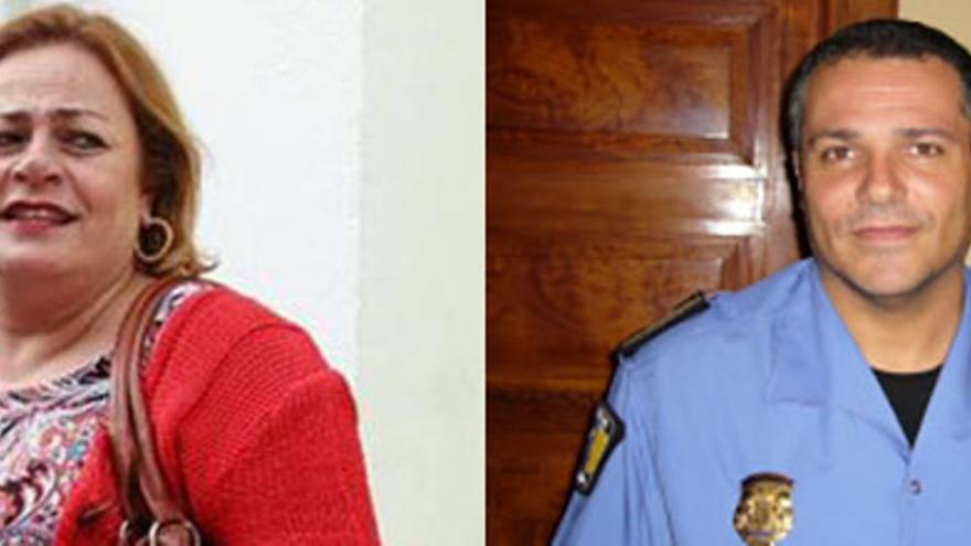 María del Carmen Castellano y Antonio Mederos.