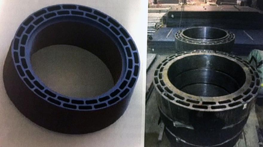 Los contenedores para el depósito de los residuos nucleares, construidos con acero y níquel