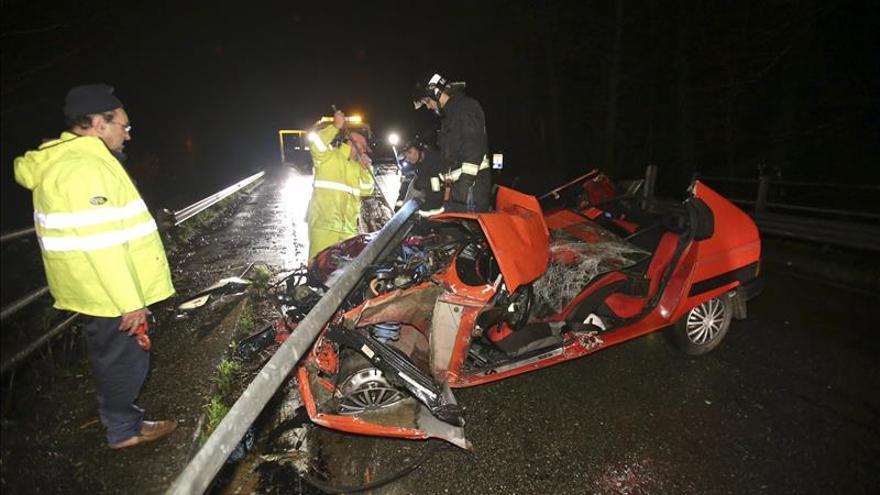 Nueve muertos en otros tantos accidentes de tráfico durante el fin de semana