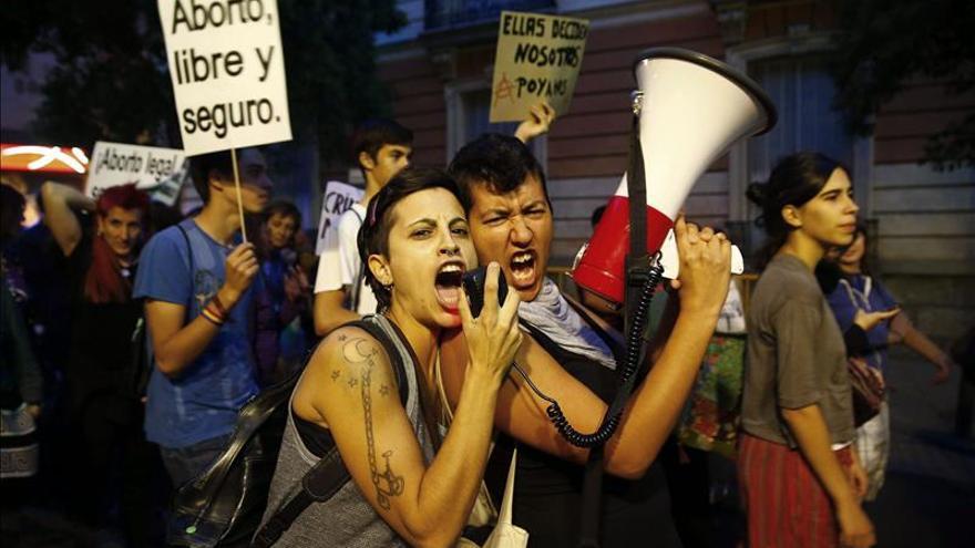 Feministas reclaman en Madrid que el aborto esté fuera del Código Penal