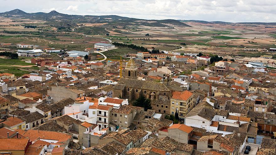 Vista aérea de Montealegre del Castillo, Albacete.