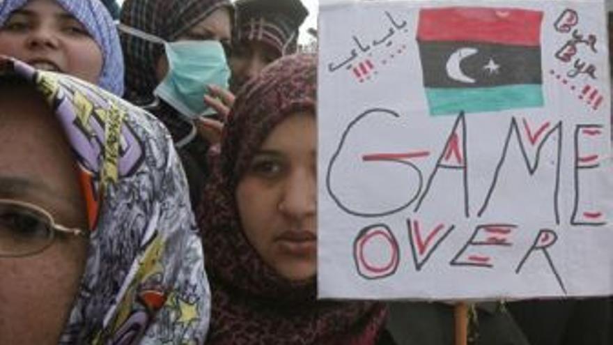 La población se posiciona en contra de Gadafi. (EUROPA PRESS)