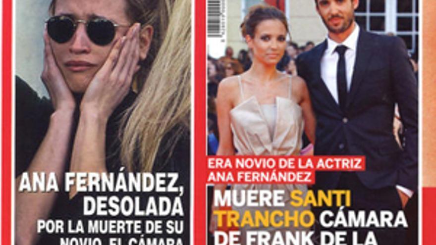 La Revistas De Papel Reflejan El Dolor De Ana Fernández Por Santi Trancho