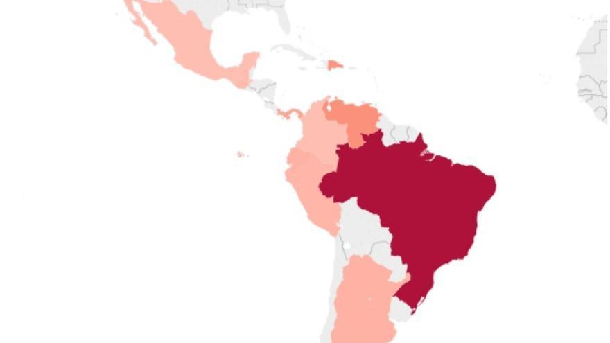 Mapa sobornos Odebrecht