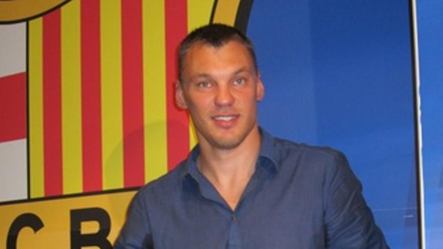 El Jugador Del FC Barcelona Regal Sarunas Jasikevicius