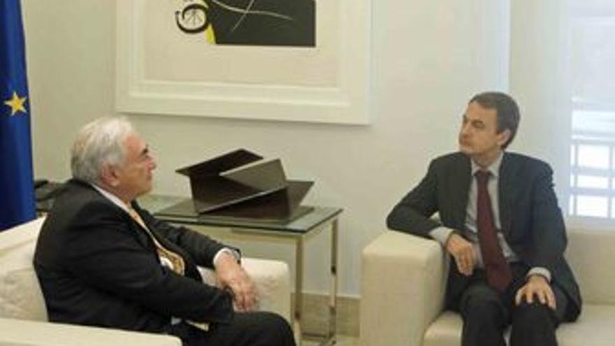 Presidente del Gobierno, José Luis Rodríguez Zapatero con el director gerente de
