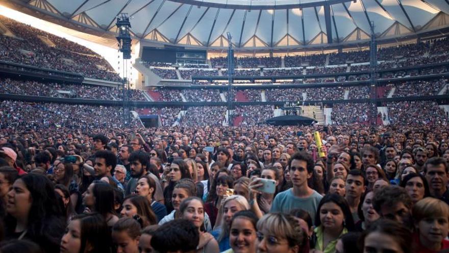 Ed Sheeran brinda en Madrid su mayor concierto, no el más grande