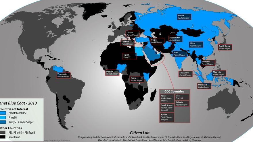 Blue Coat, empresa enemiga de Internet según Reporteros sin Fronteras